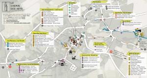 Carte du Chemin des Arts de Saint Aubin Château Neuf