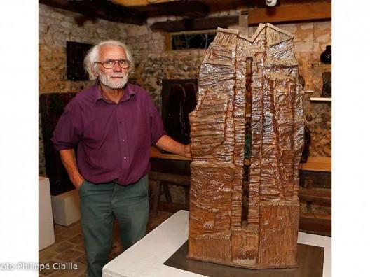 Alain Gaudebert, céramiste. Photo © Philippe Cibille